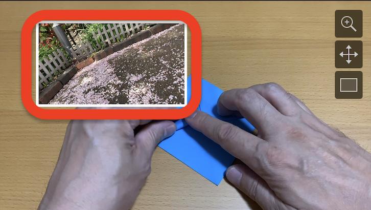 iMovieをiPhoneで編集 ピクチャインピクチャした画像