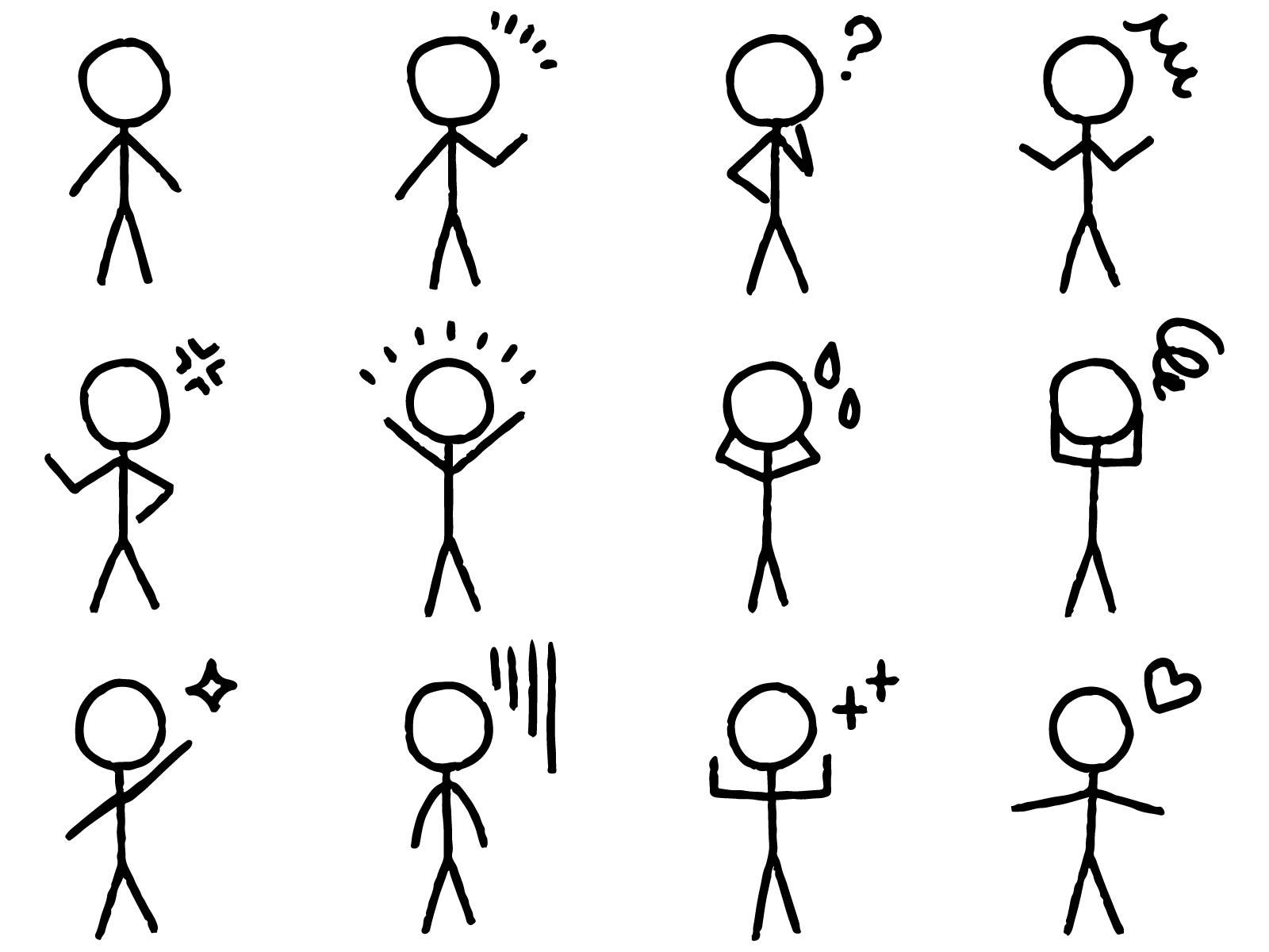 棒人間の描き方の画像