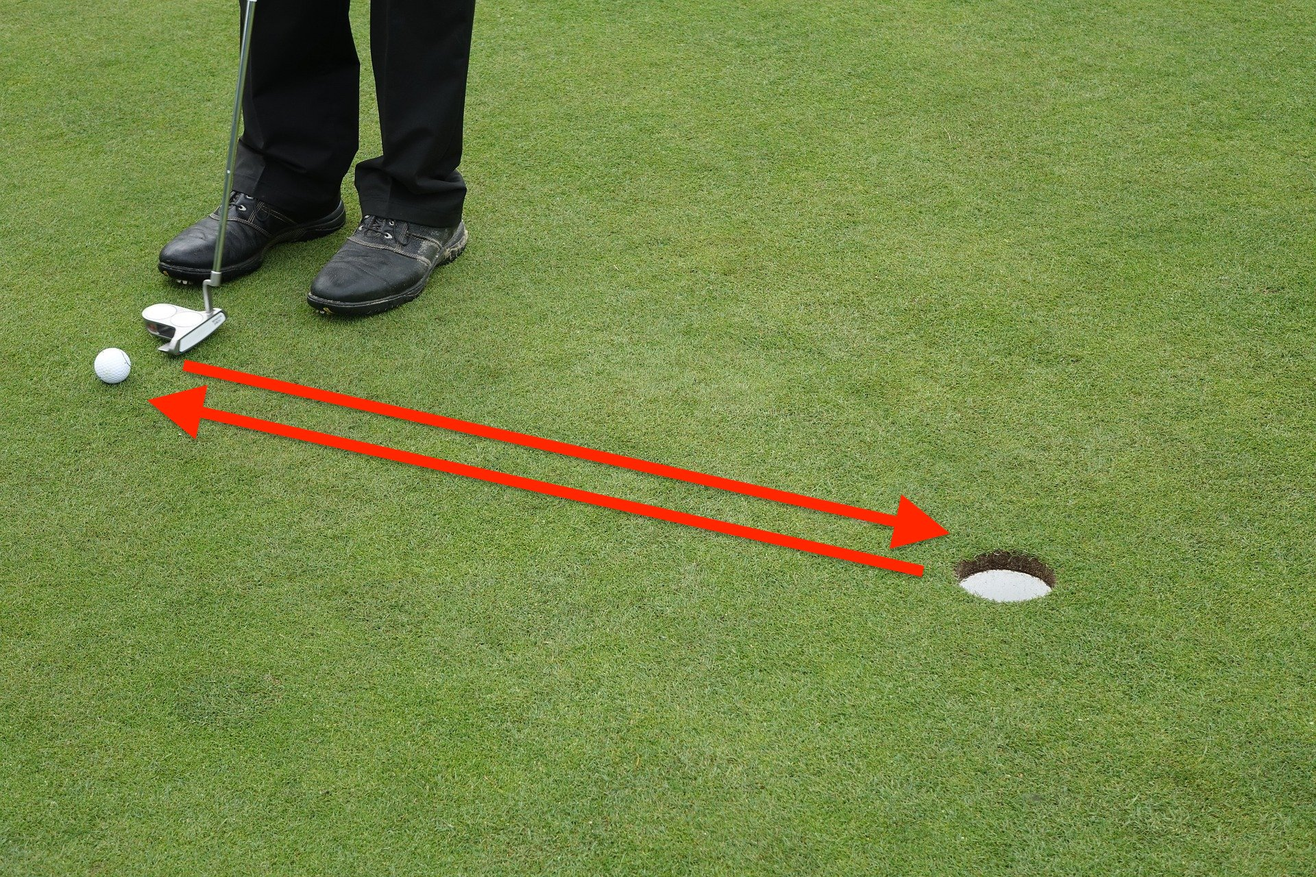 golfのパターの画像